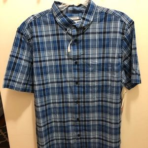 NWT Old Navy Plaid Men's L Button Down